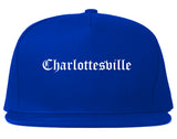 Charlottesville Virginia VA Old English Mens Snapback Hat Royal Blue