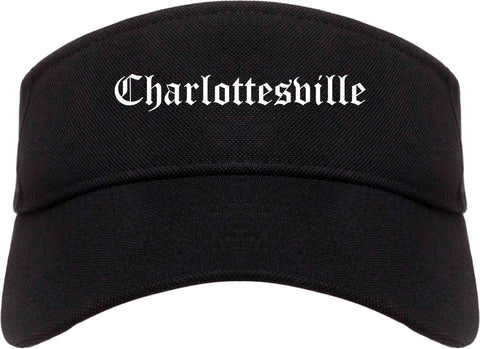 Charlottesville Virginia VA Old English Mens Visor Cap Hat Black