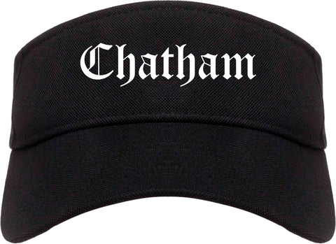 Chatham Illinois IL Old English Mens Visor Cap Hat Black