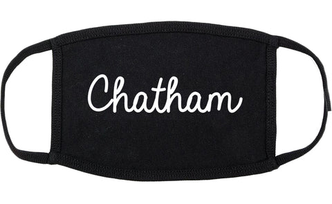 Chatham New Jersey NJ Script Cotton Face Mask Black