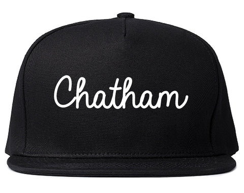 Chatham New Jersey NJ Script Mens Snapback Hat Black
