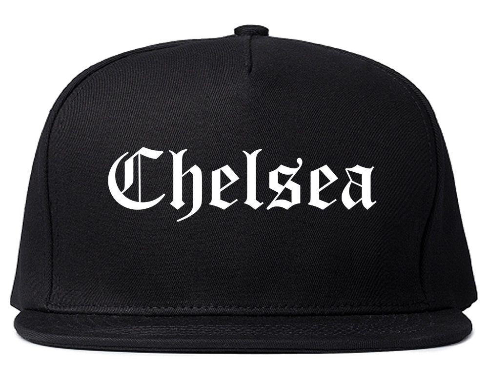 Chelsea Michigan MI Old English Mens Snapback Hat Black