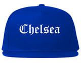 Chelsea Michigan MI Old English Mens Snapback Hat Royal Blue