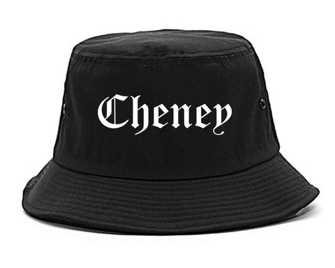 Cheney Washington WA Old English Mens Bucket Hat Black