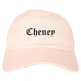 Cheney Washington WA Old English Mens Dad Hat Baseball Cap Pink