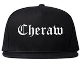 Cheraw South Carolina SC Old English Mens Snapback Hat Black