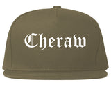 Cheraw South Carolina SC Old English Mens Snapback Hat Grey