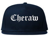 Cheraw South Carolina SC Old English Mens Snapback Hat Navy Blue