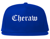 Cheraw South Carolina SC Old English Mens Snapback Hat Royal Blue