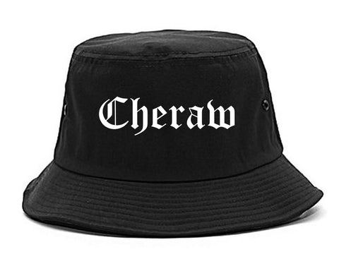 Cheraw South Carolina SC Old English Mens Bucket Hat Black