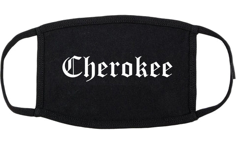 Cherokee Iowa IA Old English Cotton Face Mask Black