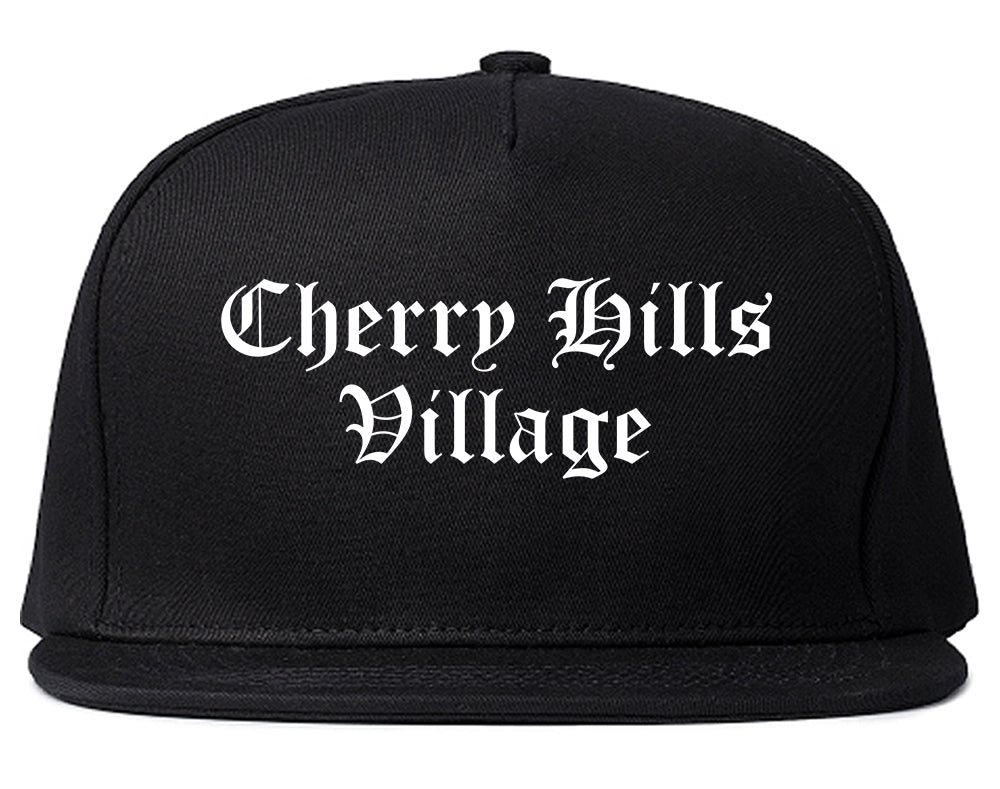 Cherry Hills Village Colorado CO Old English Mens Snapback Hat Black