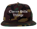 Cherry Hills Village Colorado CO Old English Mens Snapback Hat Army Camo
