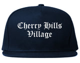Cherry Hills Village Colorado CO Old English Mens Snapback Hat Navy Blue