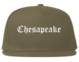 Chesapeake Virginia VA Old English Mens Snapback Hat Grey