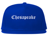 Chesapeake Virginia VA Old English Mens Snapback Hat Royal Blue