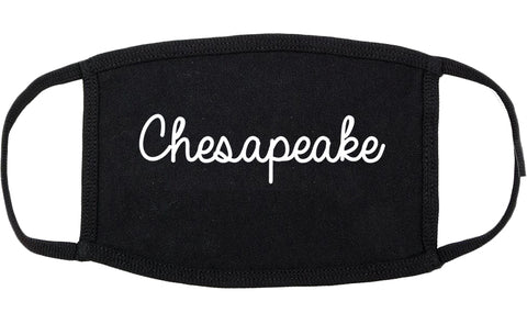 Chesapeake Virginia VA Script Cotton Face Mask Black