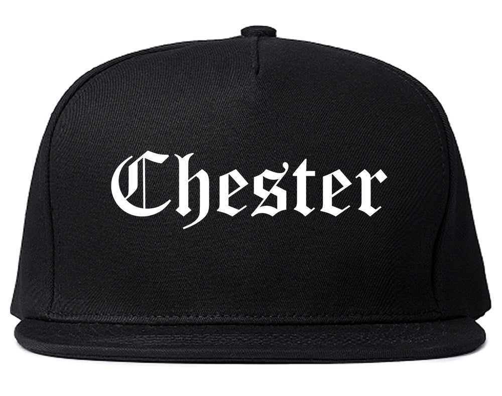 Chester Illinois IL Old English Mens Snapback Hat Black