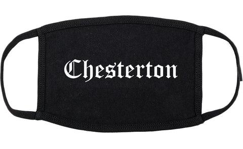 Chesterton Indiana IN Old English Cotton Face Mask Black