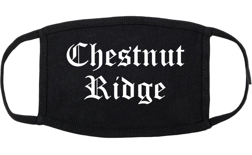 Chestnut Ridge New York NY Old English Cotton Face Mask Black