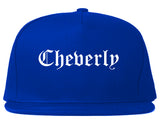 Cheverly Maryland MD Old English Mens Snapback Hat Royal Blue
