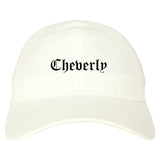 Cheverly Maryland MD Old English Mens Dad Hat Baseball Cap White