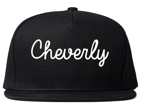 Cheverly Maryland MD Script Mens Snapback Hat Black