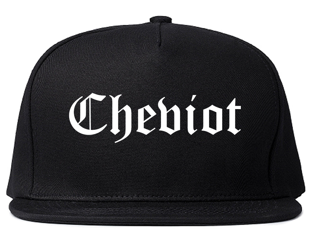 Cheviot Ohio OH Old English Mens Snapback Hat Black