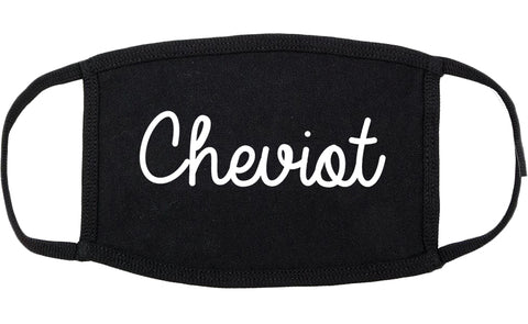 Cheviot Ohio OH Script Cotton Face Mask Black