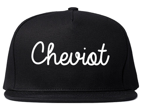Cheviot Ohio OH Script Mens Snapback Hat Black