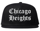 Chicago Heights Illinois IL Old English Mens Snapback Hat Black