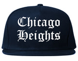 Chicago Heights Illinois IL Old English Mens Snapback Hat Navy Blue