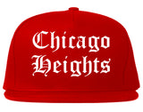 Chicago Heights Illinois IL Old English Mens Snapback Hat Red