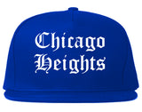 Chicago Heights Illinois IL Old English Mens Snapback Hat Royal Blue