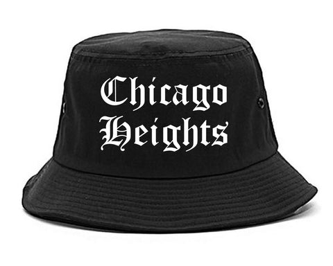 Chicago Heights Illinois IL Old English Mens Bucket Hat Black