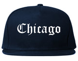 Chicago Illinois IL Old English Mens Snapback Hat Navy Blue