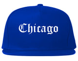 Chicago Illinois IL Old English Mens Snapback Hat Royal Blue