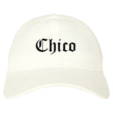 Chico California CA Old English Mens Dad Hat Baseball Cap White