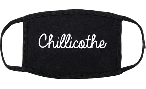 Chillicothe Illinois IL Script Cotton Face Mask Black
