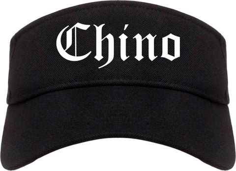 Chino California CA Old English Mens Visor Cap Hat Black