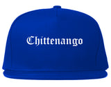 Chittenango New York NY Old English Mens Snapback Hat Royal Blue