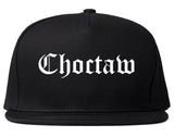 Choctaw Oklahoma OK Old English Mens Snapback Hat Black