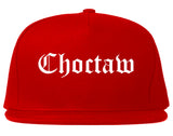 Choctaw Oklahoma OK Old English Mens Snapback Hat Red