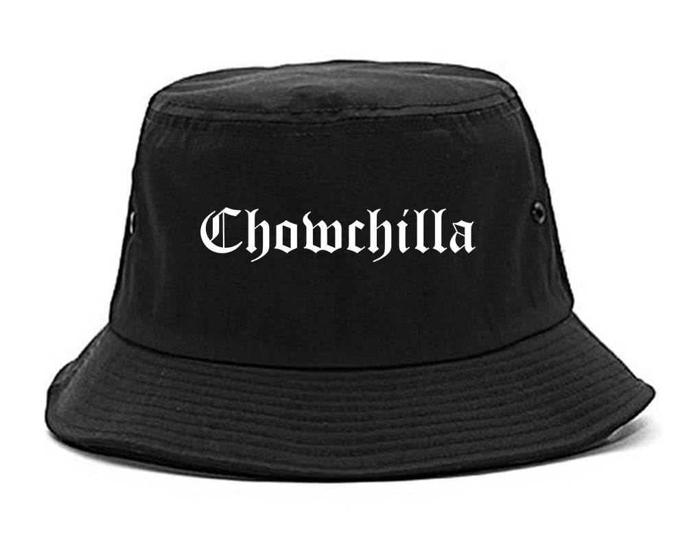Chowchilla California CA Old English Mens Bucket Hat Black