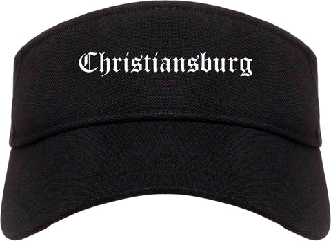 Christiansburg Virginia VA Old English Mens Visor Cap Hat Black