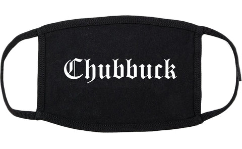 Chubbuck Idaho ID Old English Cotton Face Mask Black