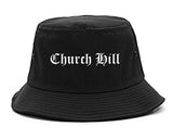 Church Hill Tennessee TN Old English Mens Bucket Hat Black