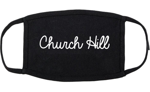 Church Hill Tennessee TN Script Cotton Face Mask Black