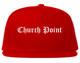 Church Point Louisiana LA Old English Mens Snapback Hat Red