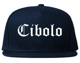 Cibolo Texas TX Old English Mens Snapback Hat Navy Blue